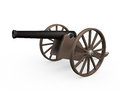 Old cannon isolated on white background d render Stock Photo