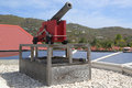 Old cannon at St. Barths, French West indies Royalty Free Stock Photo