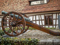 Old cannon in Switzerland - 3 Royalty Free Stock Photo