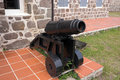 Old Cannon used as defense system at Fort Shirley Royalty Free Stock Photo