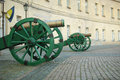 Old cannons on the square Royalty Free Stock Photos