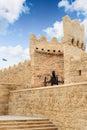 Old canon turkish top in city wall icheri sheher town of baku azerbaijan Royalty Free Stock Image