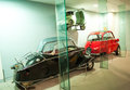 Old car collection exhibited in the Museum of Science