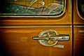 Old car color detail of historic Royalty Free Stock Photo