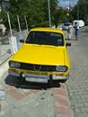 Old car in fethiye turkey yellow the street photo taken on september Royalty Free Stock Photos