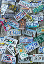 Old car license plates on the wall bar harbor maine july in bar harbor july in u s where each state issues new york Royalty Free Stock Images