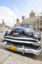 Old car parked in front of the revolution museum in havana cuba january classic formerly presidential palace until Royalty Free Stock Photography