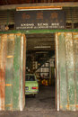 Old Car Repair Store Royalty Free Stock Photos