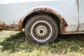 Old car with rust on body Royalty Free Stock Photo