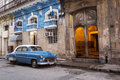 Old car on the street of Havana, Cuba Royalty Free Stock Photo
