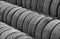 Old car tires embankment made from Stock Photography