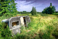 Old caravan in landscape Royalty Free Stock Photos