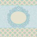 Old card design, orange vintage frame. EPS 8 Royalty Free Stock Photo