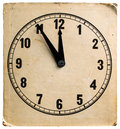 Old cardboard clock Royalty Free Stock Photo