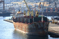 Old cargo vessel Royalty Free Stock Photo