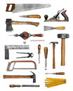 Old carpenter hand tools Royalty Free Stock Photo