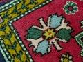 Old carpet fragment colorful closeup Royalty Free Stock Photos