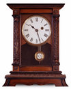Old carriage clock Royalty Free Stock Images