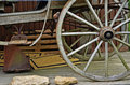 Old carriage wheel detail Royalty Free Stock Photo
