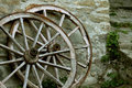 Old carriage wheels Royalty Free Stock Photo