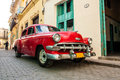 Old cars classic on the streets of cuba Royalty Free Stock Photos