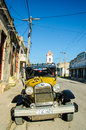 Old cars classic on the streets of cuba Royalty Free Stock Image