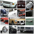 Old cars collage Royalty Free Stock Image