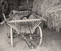 Old Cart in the Barn Royalty Free Stock Photo