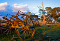 Old cart on the farm Royalty Free Stock Photography