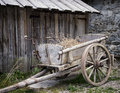 Old cart at a farm Stock Photography