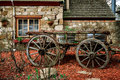 Old cart in Hahndorf Royalty Free Stock Photo