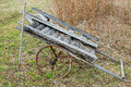 Old cart and pitchfork Royalty Free Stock Photo