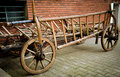Old cart very used for carrying animal food in villages Stock Photo
