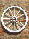 Old cart wheel Stock Photo