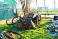 Old cart in Zaanse Schans Village, Holland Royalty Free Stock Photo
