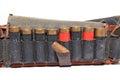 Old cartridge belt Royalty Free Stock Photo