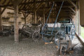 Old carts vintage romanian at astra village museum sibiu romania Royalty Free Stock Photo