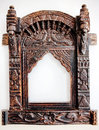 Old carved wooden frame. Royalty Free Stock Images