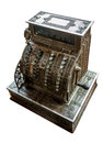 Old cash register the isolated on white background Royalty Free Stock Image