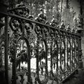 Old cast iron fence Royalty Free Stock Photo