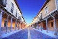 Old Castilla street with arcades Royalty Free Stock Photography