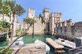 Old Castle in the city Sirmione at the lago di Garda Royalty Free Stock Photo