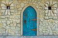 Old castle door Royalty Free Stock Photo