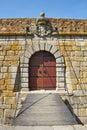 Old castle door and drawbridge Royalty Free Stock Photo