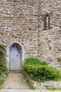 Old castle door seen in Rye, Kent, UK. Royalty Free Stock Photo