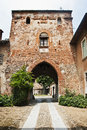 Old castle entrance Royalty Free Stock Photography