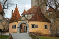 Old castle gate rothenburg ob der tauber germany Stock Image