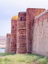 Old castle islamic in the middle asia Royalty Free Stock Photos