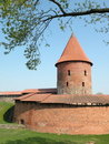 Old castle in Kaunas city Royalty Free Stock Photos
