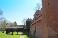 Old castle in malbork marienburg poland the of the teutonic order is the largest the world by surface area and the largest brick Royalty Free Stock Image